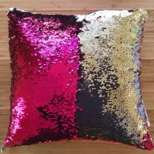 Reversible sequin pillow